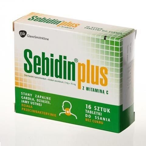 SEBIDIN Plus x 16 tabl. do ssania bez cukru