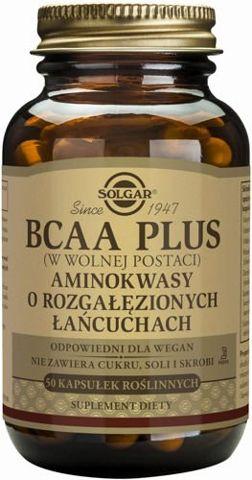 SOLGAR BCAA Plus Aminokwasy o rozgałęzionych łańcuchach x 50 kapsułek
