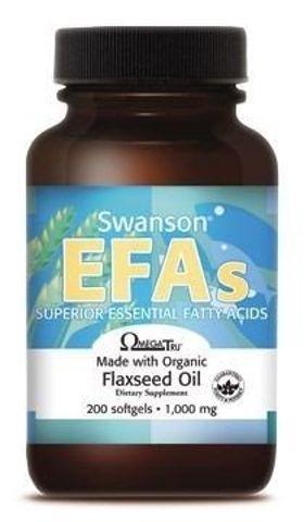 SWANSON Flaxseed oil (Olej z siemienia lnianego) 1000mg x 200 kapsułek