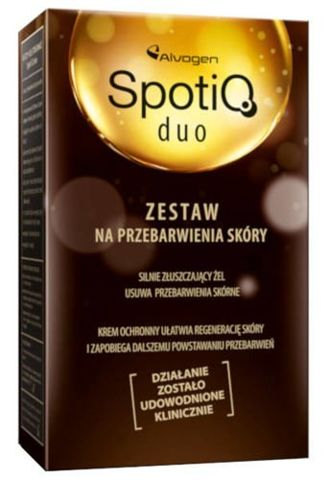 SpotiQ Duo Zestaw na przebarwienia skóry żel 2ml + krem 50ml