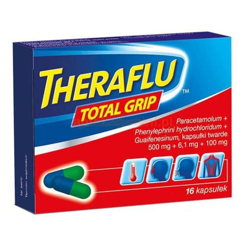 Theraflu Total Grip x 16 kapsułek