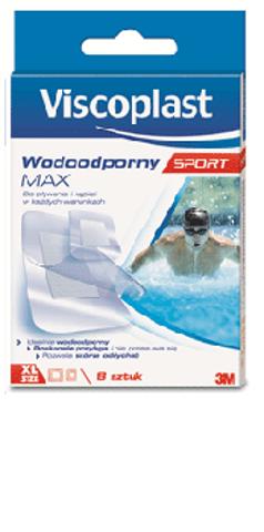 Viscoplast  Wodoodporny Max Sport  zestaw plastrów x 8 sztuk