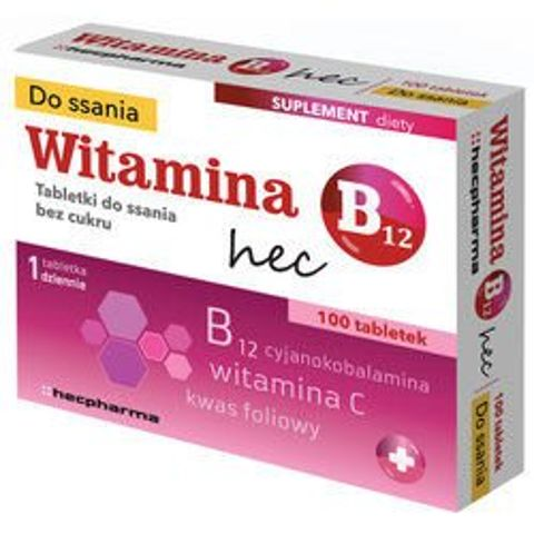 Witamina B12 x 100 tabletek do ssania