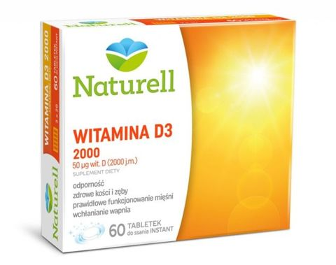 Witamina D3 2000j.m x 60 tabletek do ssania